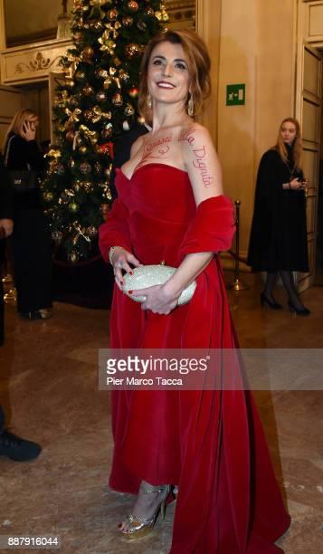 Silvia Colombini attends the Prima Alla Scala at Teatro Alla Scala on December 7 2017 in Milan Italy