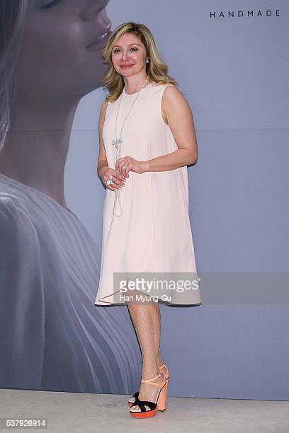 Silvia Damiani attends the photocall for DAMIANI 'Romanov Collection' Launch on June 3 2016 in Seoul South Korea