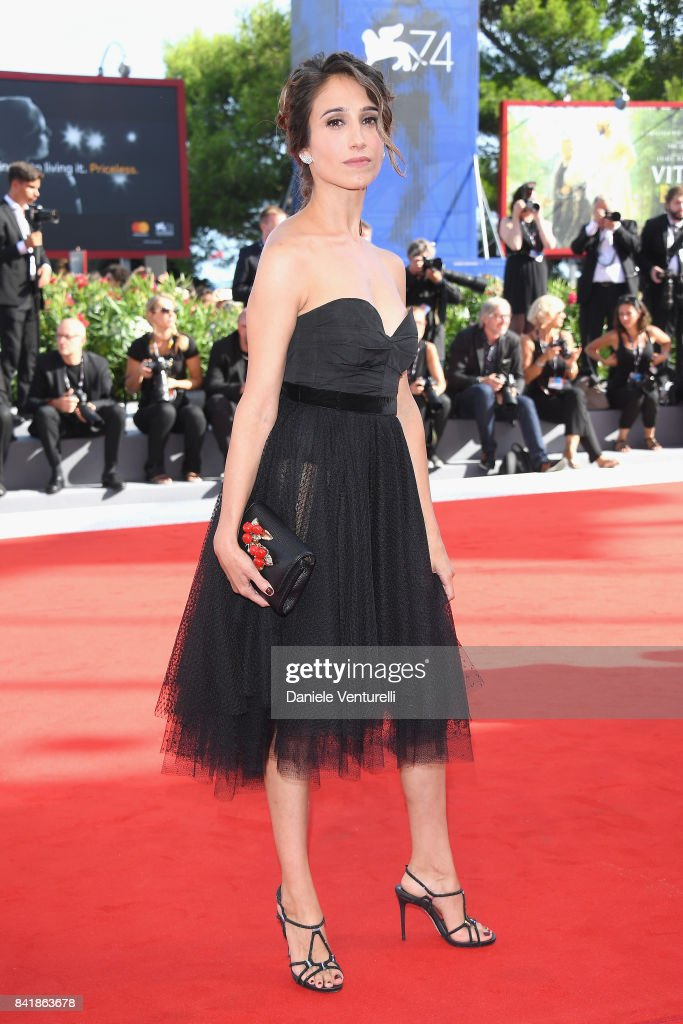 Silvia D'Amico from the movie 'Diva!' walks the red carpet ahead of the 'Foxtrot' screening during the 74th Venice Film Festival at Sala Grande on September 2, 2017 in Venice, Italy.
