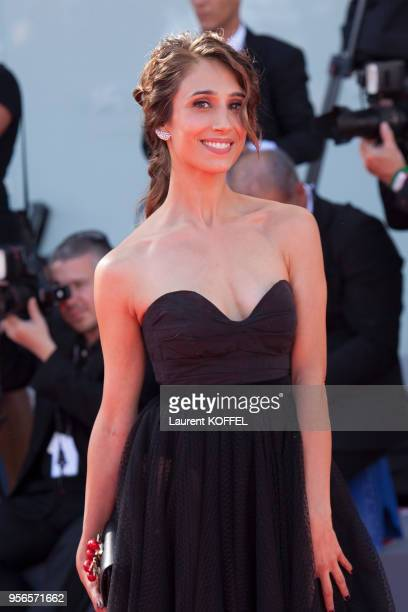 Silvia D'Amico from the movie 'Diva' walks the red carpet ahead of the 'Foxtrot' screening during the 74th Venice Film Festival at Sala Grande on...