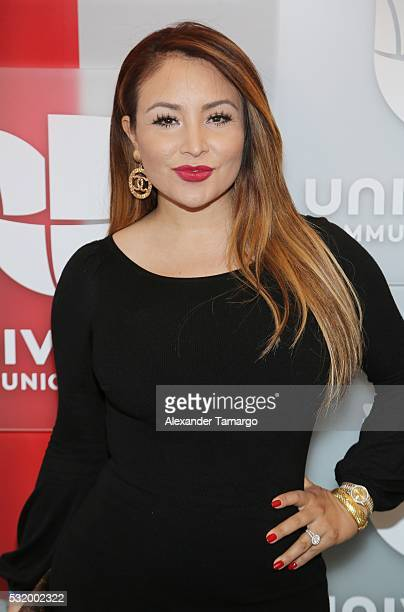 Silvia Del Valle is seen arriving at Univision's UpFront 2016 at Gotham Hall on May 17 2016 in New York New York