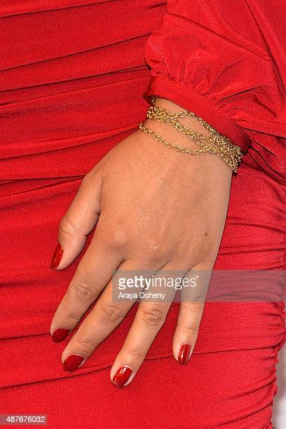 Silvia Del Valle nail and bracelet detail attends The Paley Center For Media's PaleyFest 2015 Fall TV Preview Univision at The Paley Center for Media...