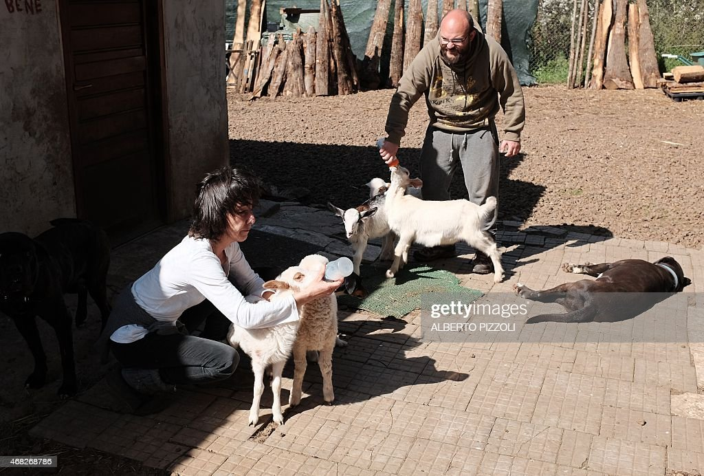 ITALY-EASTER-ANIMAL-LAMBS-FOOD-RELIGION : News Photo