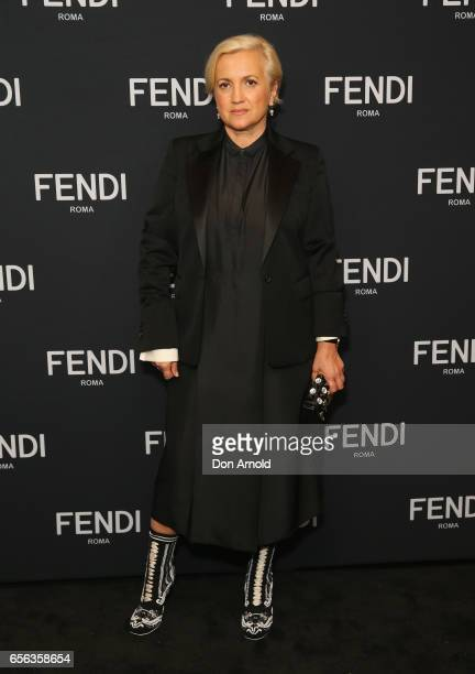 Silvia Fendi arrives at the opening of Sydney's first FENDI boutique at Westfield Sydney on March 22, 2017 in Sydney, Australia.