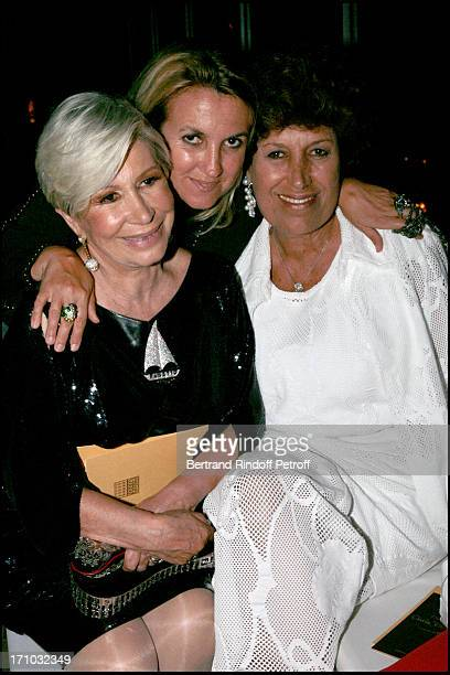 Silvia Fendi mother Anna and sister Carla Fendi Dinner at the Fendi Palazzo in Rome for the launch of the new perfume Palazzo