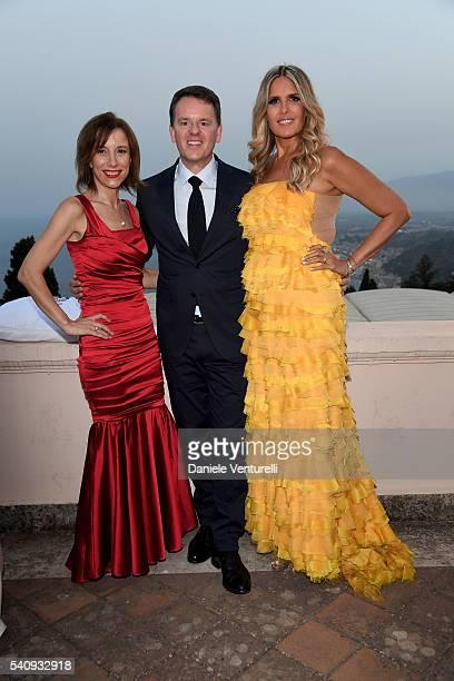 Silvia Grilli Alain Zimmermann and Tiziana Rocca attend Baume Mercier 62 Taormina Film Fest on June 17 2016 in Taormina Italy