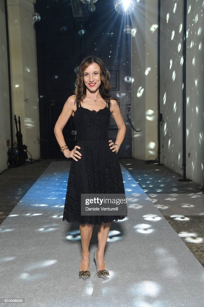 Silvia Grilli attends the Dolce & Gabbana Secret & Diamond show during Milan Fashion Week Fall/Winter 2018/19 on February 24, 2018 in Milan, Italy.