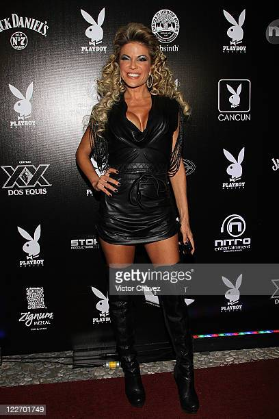 Silvia Irabien La Chiva attends the Playboy Mexico magazine party at Lomas de Chapultepec on August 27 2011 in Mexico City Mexico