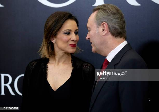 Silvia Jato and Alberto Fabra attend the opening of the new Porcelanosa store on December 14 2018 in Castellon de la Plana Spain
