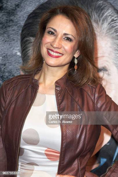 Silvia Jato attends 'Confidencial' premiere at the Figaro Theater on May 30 2018 in Madrid Spain
