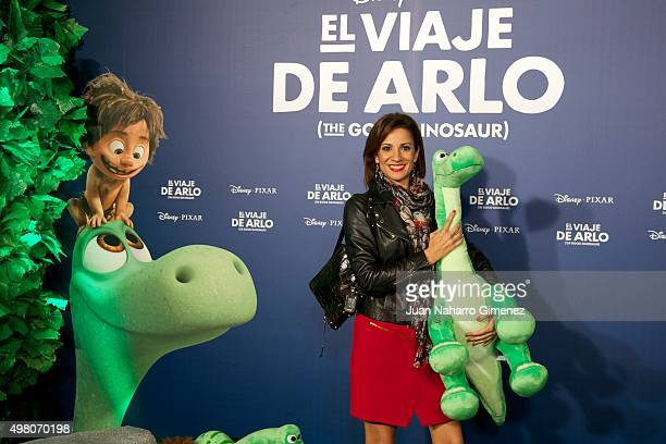 Silvia Jato attends 'El Viaje de Arlo' premiere at Capitol Cinema on November 20 2015 in Madrid Spain