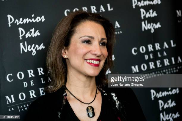 Silvia Jato attends 'Pata Negra' awards 2018 at Corral de la Moreria restaurant on February 20 2018 in Madrid Spain