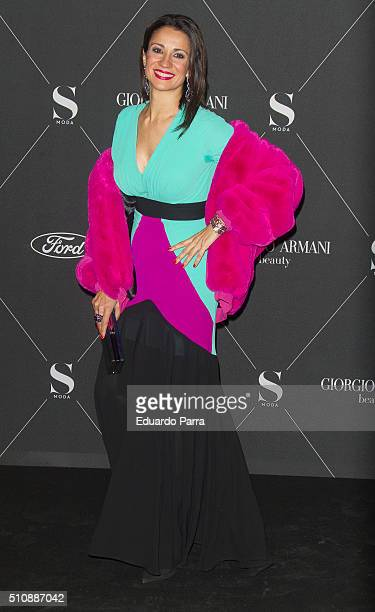 Silvia Jato attends 'S Moda' magazine party photocall at Real Academa de Bellas Artes de San Fernando on February 17 2016 in Madrid Spain