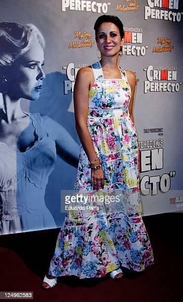 Silvia Jato attends the Crimen Perfecto premiere photocall at Reina Victoria theatre on September 14 2011 in Madrid Spain