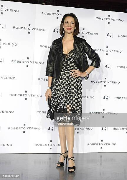 Silvia Jato attends the Roberto Verino new SpringSummer 2016 'Un Balcon al Mar' collection launch at Platea on March 16 2016 in Madrid Spain