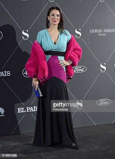Silvia Jato attends the 'S Moda' magazine party at the Real Academia de Bellas Artes on February 17 2016 in Madrid Spain
