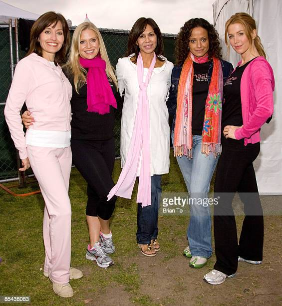Silvia Lopez Emily Procter Laura Diaz Judy Reyes and Poppy Montgomery attend the 13th Annual Komen Los Angeles County Race For The Cure at Pasadena...