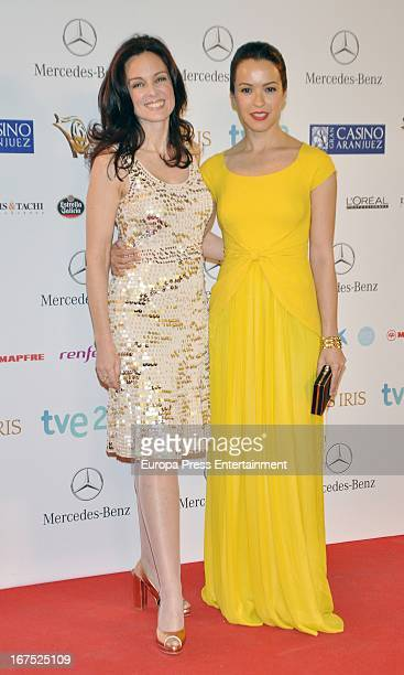 Silvia Marso and Veronica Sanchez attend Iris Awards 2013 on April 25 2013 in Madrid Spain