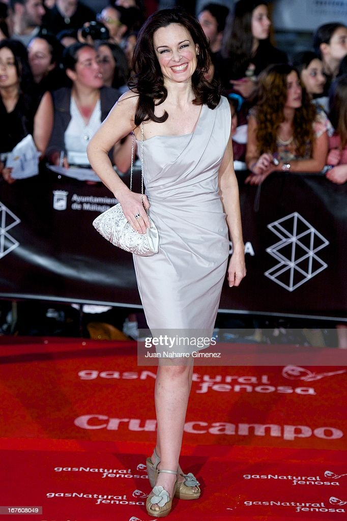 Silvia Marso attends 'Gala Premio Retrospectiva-Malaga Hoy' during 16 Malaga Film Festival at Teatro Cervantes on April 26, 2013 in Malaga, Spain.