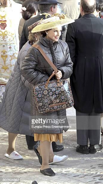 Silvia Marso is seen during the set filming of 'Galerias Velvet' on December 14 2015 in Madrid Spain