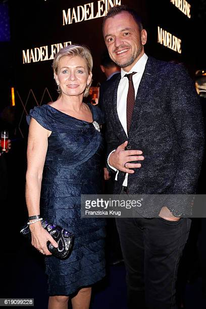 Silvia Neid and Volker Valk attend the Goldene Henne on October 28 2016 in Leipzig Germany