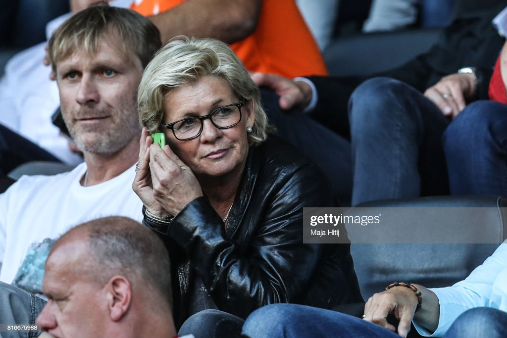 Silvia Neid former German coach sits on the tribune prior the Group B match between Germany and Sweden during the UEFA Women's Euro 2017 at Rat Verlegh Stadion on July 17, 2017 in Breda, Netherlands.