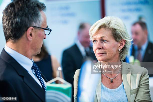 Silvia Neid head coach of the German Womens national football team attends the Allianz Women's Bundesliga Kickoff Event at DFB Headquarter on August...
