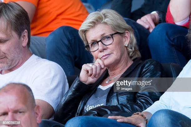 Silvia Neid looks on during the Group B match between Germany and Sweden during the UEFA Women's Euro 2017 at Rat Verlegh Stadion on July 17 2017 in...