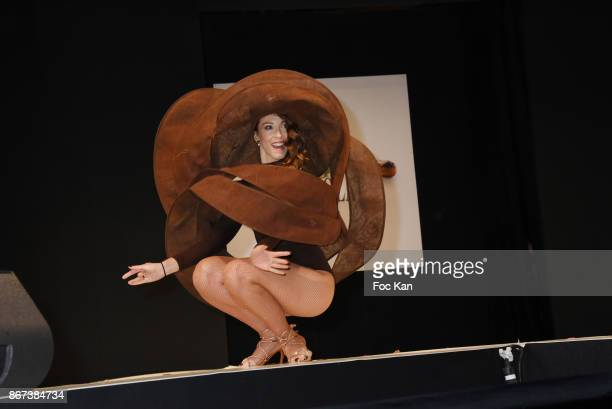 Silvia Notargiacomo by Laurence Bossion Patrice Chapon walks the runway during the 'Salon Du Chocolat 2017 Chocolate Fair' Auction Show in Benefit of...