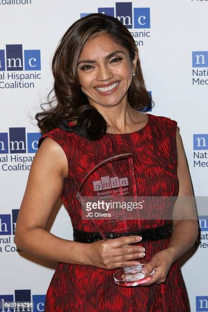 Silvia Olivas wins 'The Outstanding Animated Series Impact Award' for 'Elena of Avalor' during the 20th Annual National Hispanic Media Coalition...