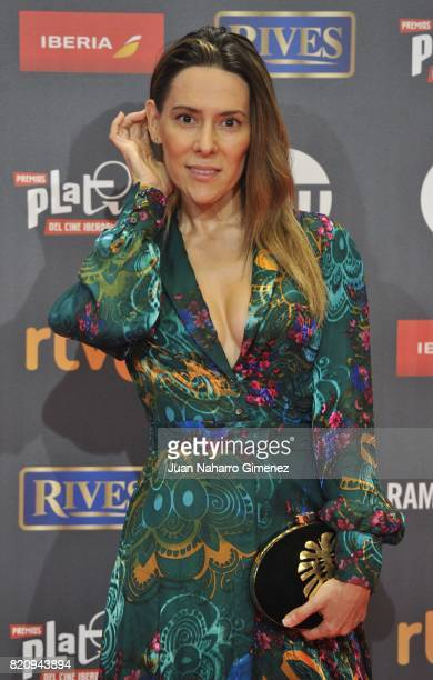 Silvia Olmedo attends the 'Platino Awards 2017' photocall at La Caja Magica on July 22 2017 in Madrid Spain