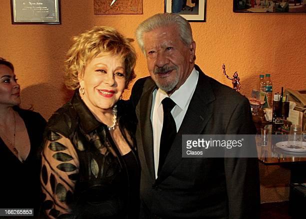 Silvia Pinal and Ignacio Lopez Tarso during the awards ceremony of Theatre Critics Association on April 10 2013 in Mexico City Mexico