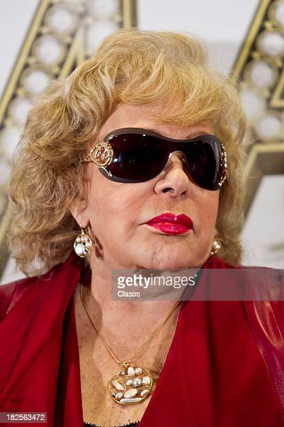 Silvia Pinal during a press conference of te Mexican film Tercera Llamada at the Maria Isabel Sheraton Hotel on September 30 2013 in Mexico City...