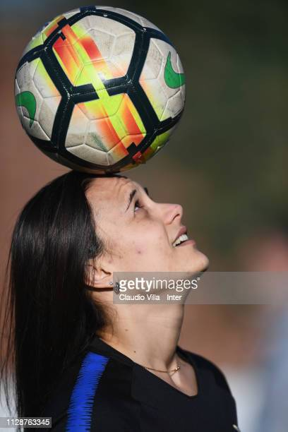 Silvia Pisano of FC Internazionale Women in action during a training session at Suning Youth Development Centre in memory of Giacinto Facchetti on...