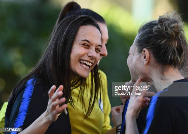 Silvia Pisano of FC Internazionale Women reacts during a training session at Suning Youth Development Centre in memory of Giacinto Facchetti on March...