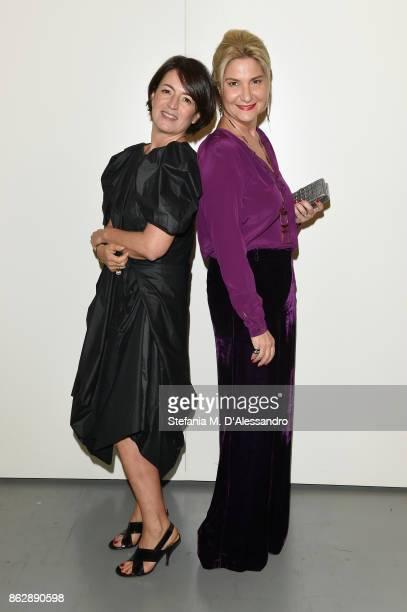 Silvia Robertazzi and Antonella Dedini attend Milano Design Film Festival Opening at Triennale di Milano on October 18 2017 in Milan Italy