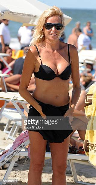 Silvia Rocca is seen at the beach on July 11 2009 in Milano Marittima Italy