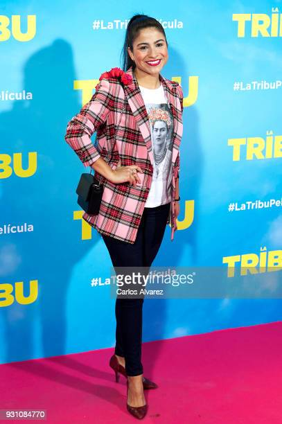 Silvia Sanabria attends 'La Tribu' premiere at the Capitol cinema on March 12 2018 in Madrid Spain