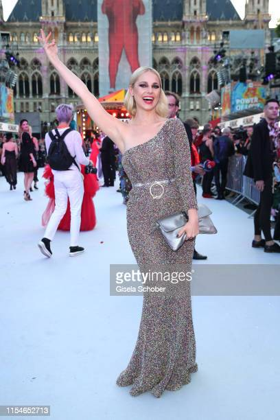Silvia Schneider arrives for the Life Ball 2019 at City Hall on June 08 2019 in Vienna Austria After 26 years the charity event Life Ball will take...