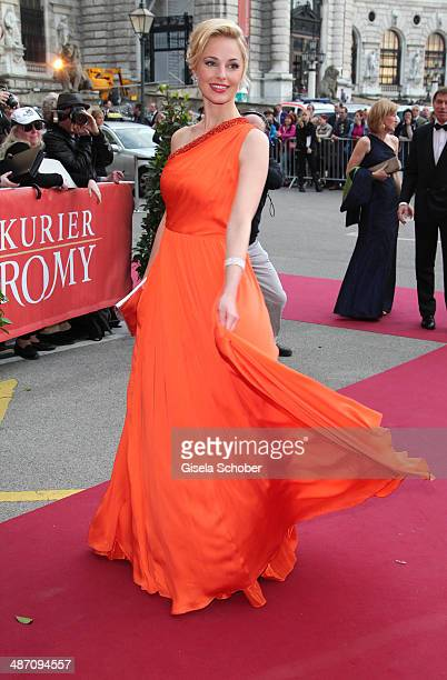 Silvia Schneider attends the 25th Romy Award 2014 at Hofburg Vienna on April 26 2014 in Vienna Austria