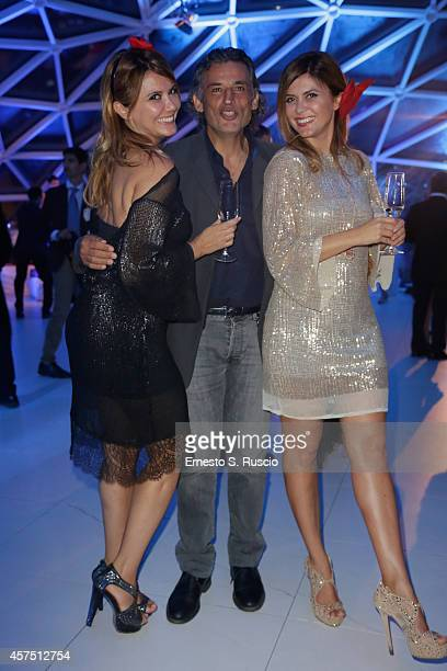 Silvia Squizzato Enrico Lo Verso and Laura Squizzato attend the Party Lanterna Di Fuksas during the 9th Rome Film Festival on October 19 2014 in Rome...