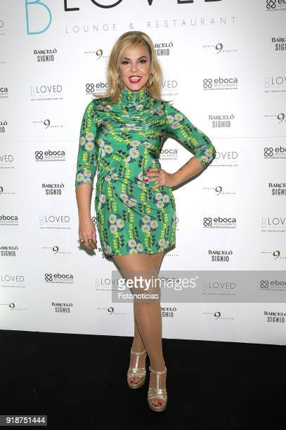 Silvia Superstar attends the 'BLoved' restaurant opening party photocall at the Catalonia Hotel on February 15 2018 in Madrid Spain