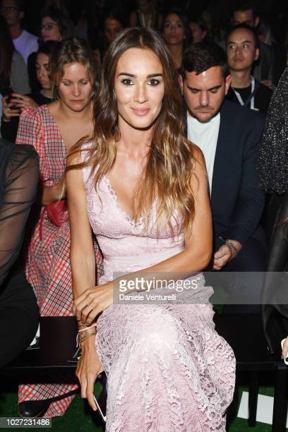 Silvia Toffanin attends the Intimissimi Show on September 5 2018 in Verona Italy