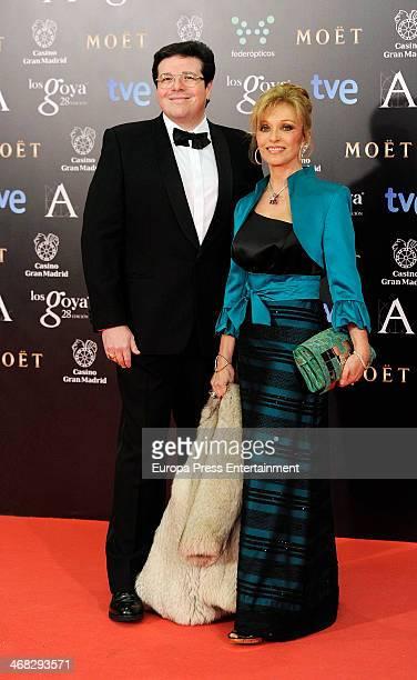 Silvia Tortosa and Carlos Canovas attend Goya Cinema Awards 2014 at Centro de Congresos Principe Felipe on February 9 2014 in Madrid Spain