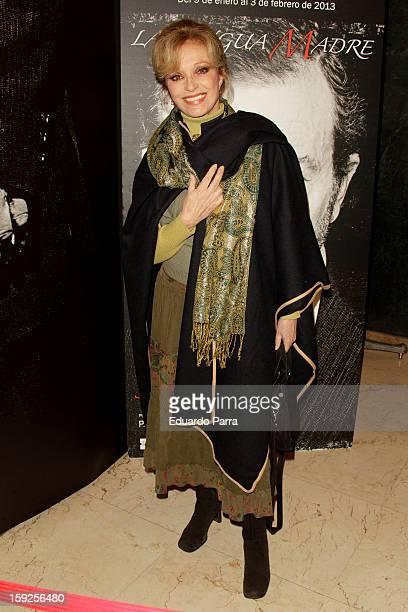 Silvia Tortosa attends 'La lengua madre' premiere at Bellas Artes theatre on January 10 2013 in Madrid Spain