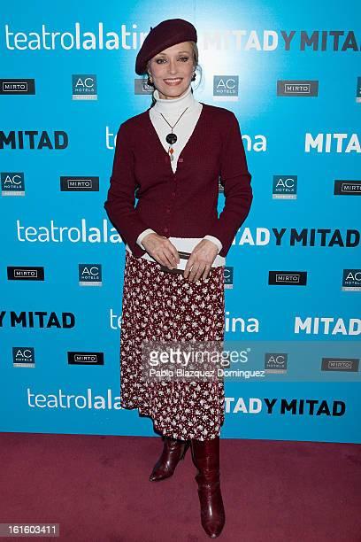 Silvia Tortosa attends 'Mitad y Mitad' Premiere at La Latina Theatre on February 12 2013 in Madrid Spain