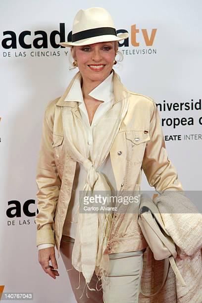 Silvia Tortosa attends Tesoros Vivos de la Television tribute meeting at European University on March 6 2012 in Madrid Spain