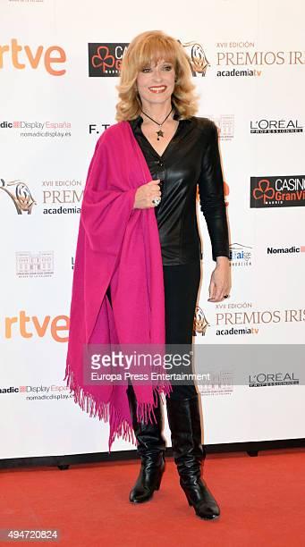 Silvia Tortosa attends XVII Iris TV Awards 2015 gala at Gran Casino on October 22 2015 in Aranjuez Spain