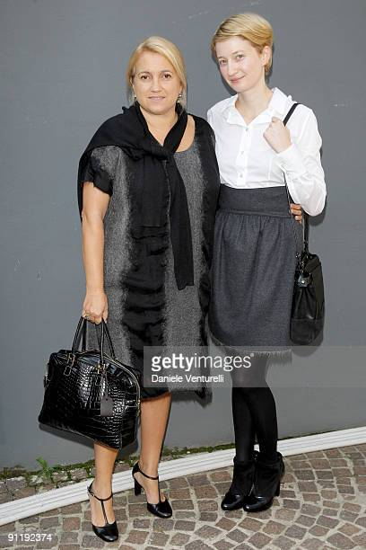 Silvia Venturini Fendi and Alba Rohrwacher attend the Fendi show as part of Milan Womenswear Fashion Week Spring/Summer 2010 at on September 27 2009...