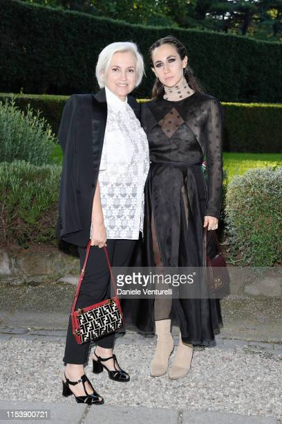 Silvia Venturini Fendi and Delfina Delettrez attend the McKim Medal Gala 2019 at Villa Aurelia on June 05, 2019 in Rome, Italy.